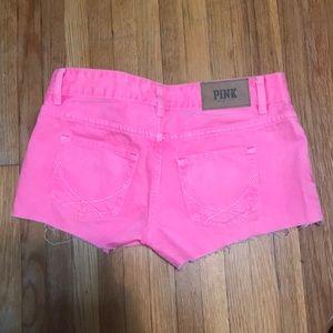 PINK Victoria's Secret Shorts - Victoria secret neon pink shorts